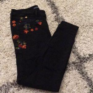Zara Flower Patch Pants